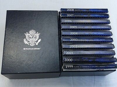 US State Quarters Complete Proof Set Coins 1999 - 2008
