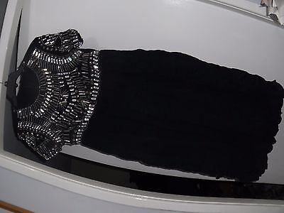 Womens Asos Maternity Black Viscose Dress Size Uk 10