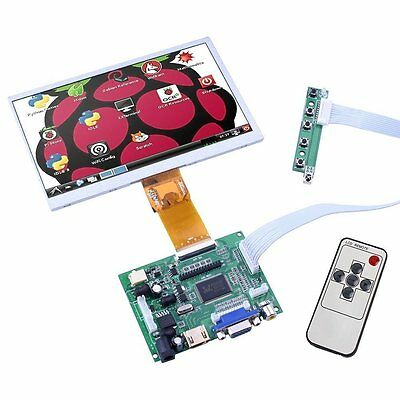 cocopar7 Inches Raspberry Pi LCD Display Screen TFT Monitor AT070TN90 with HDMI
