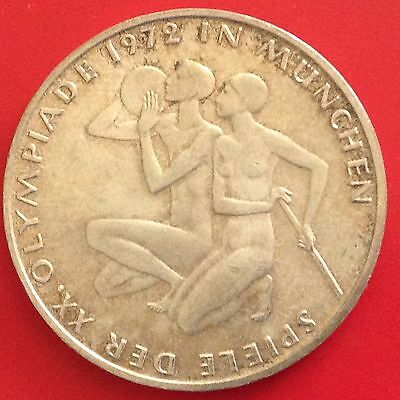 1972 - G  Germany Silver 10 Mark Coin
