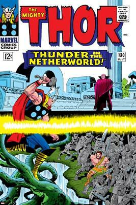 Marvel Comics Retro: The Mighty Thor Comic Book Cover No.130, Thunder in the