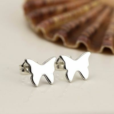 Handmade Sterling Silver Butterfly Stud Earrings