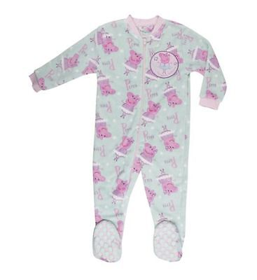 PEPPA PIG GIRL FLEECE ALL-IN-ONE PYJAMAS AGE 18-24 MONTHS 86-92cm - BNWT