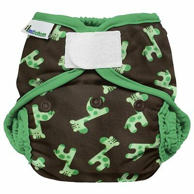 Best Bottom Cloth Diaper Shell-Hook and Loop, Green Giraffe