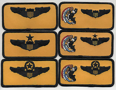"USAF Patch 90th FLYING TRAINING SQUADRON, 6 Piece Nametag Set, each 2"" X 4"" Size"