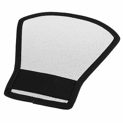 White Silver Tone Flash Light Barrier Reflector for SLR Camera BF