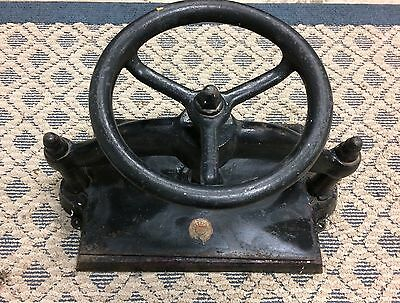 Vintage Antique Cast Iron Book Binding Press in good operating condition