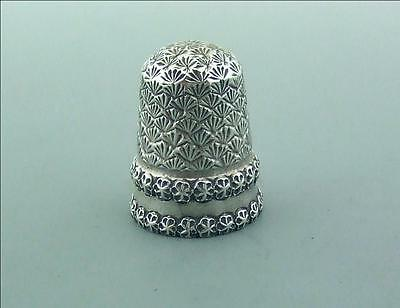 Victorian English Silver Thimble Excellent Saunders & Shepherd