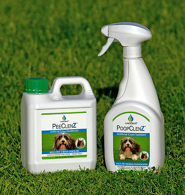 Artificial Lawn Fake Grass Pet Dog Cat Disinfectant & Deodoriser Value Pack