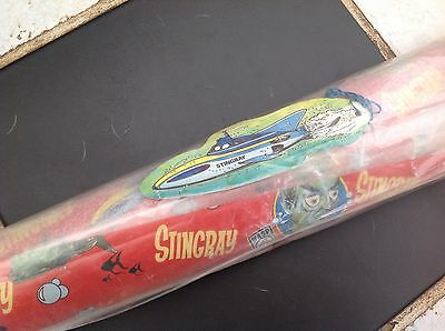 Vintage Stingray Submarine Birthday Christmas Wrapping Paper Tag Gerry Anderson