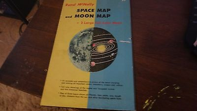 Rand McNally Space Map And Moon Map 1958 Good Condition