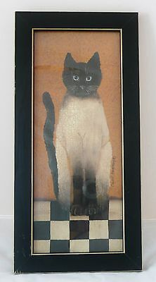 Country Cat Framed Art Print by Cindy Sampson