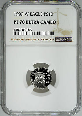 1999-W NGC PF70 1/10 oz Proof Platinum Eagle $10