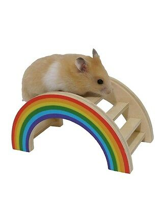 Rainbow Play & Chew Gnaw Bridge Hide Hamster Gerbil Toy