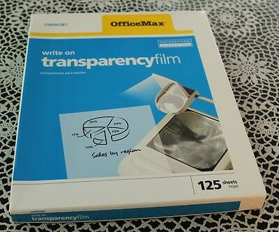 OfficeMax Write-On Transparency Film, 80 sheets