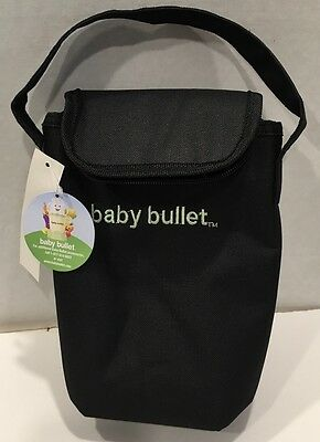 Baby Bullet Portable Baby Bottle Insulated Bag Tote Black - Holds 2 Bottles NWT