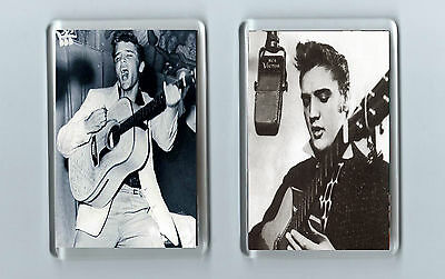 Magnets x 2 : ELVIS PRESLEY Rock 'n' roll ROCKABILLY Young Elvis