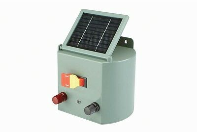 NEW Solar Powered Electric Fence Charger Farm Horses and Cattle Adjustable