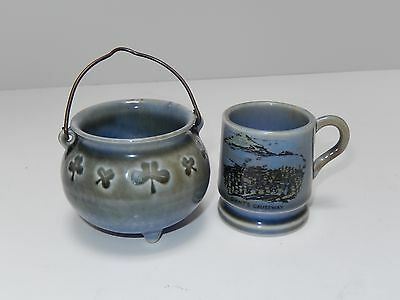 Vintage Ireland Shamrock Wade Porcelain Mug & Pot of Gold