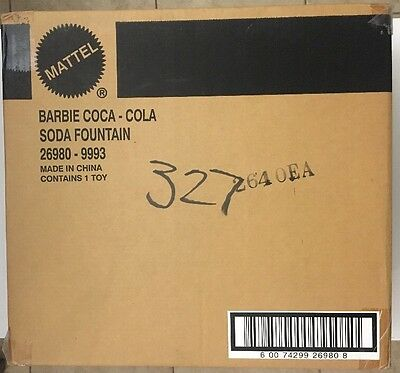 LIMITED EDITION: BARBIE COCA-COLA SODA FOUNTAIN NRFB Item # 26980, 2000 MATTEL