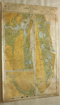New Jersey Longport to Cape May #827 Vintage Sailing Map C&GS Nautical Chart