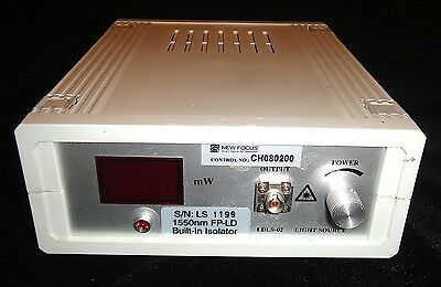 OE Labs LDLS-02 FP-LD isolator 220v Laser Diode Light Source 1550nm used works!