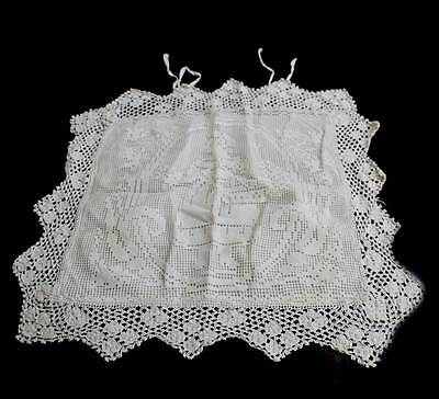 Vintage but new cream lace crinoline lady cushion cover - really beautiful