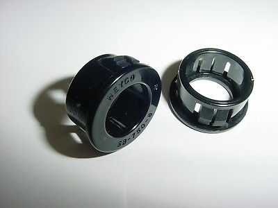 "1 Lot of 50 Heyco SB-750-8 Plastic Hole Bushing 3/4"" Black Nylon  NOS"
