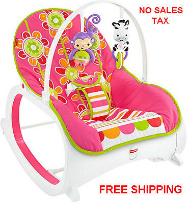 Fisher Price Infant Toddler Rocker Baby Bouncer Seat Swing Play Sleeper Floral
