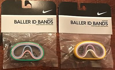 NIKE BALLER ID BANDS Packs Youth Band Multi Color Green Pink Blue Yellow White