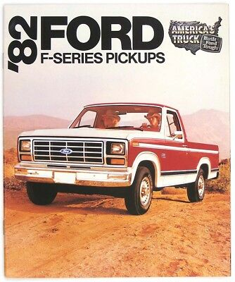 Ford 1982 F-Series Pickups F-100 F-150 F-250 F-350 Dealer Sales Brochure