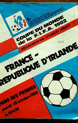 France V Republic Of Ireland 28/10/1980 World Cup