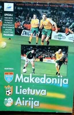 Lithuania V Republic Of Ireland 1997 World Cup