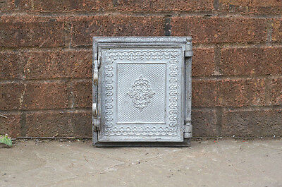 25.2 x 22 cm old cast iron fire bread oven door doors flue clay range pizza