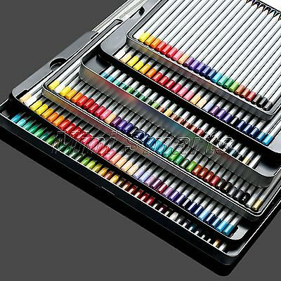Oil Base Non-toxic Pencils+Metal Box Set Artist Sketch Drawing 24/36/48/72 Colur