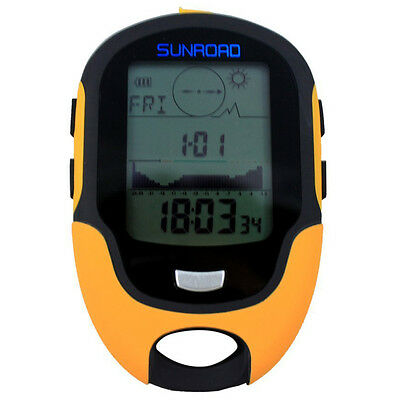 Digital Altimeter Barometer Compass Thermometer Weather Forecast LED Torch BF