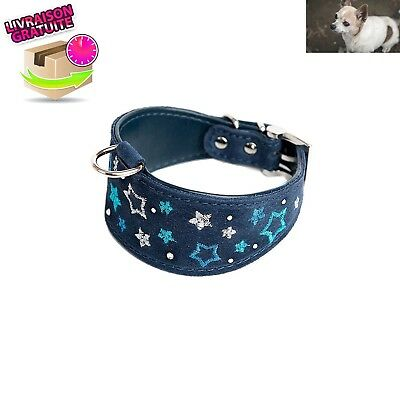 Collier Doggy Things pour Petit lévrier Whippet/brodé