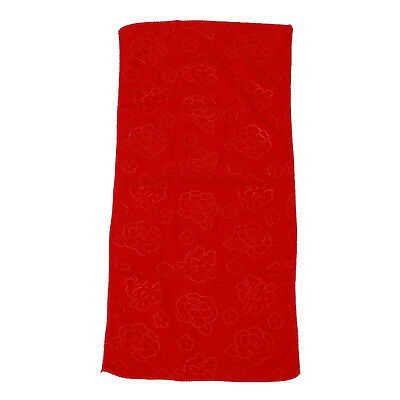 Red Chinese Style Pyrographic Cotton Bath Towel Wedding Gift  BF