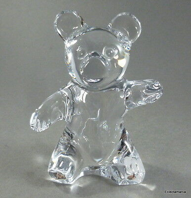 "Daum France ""Teddy Bear"" French Crystal Glass Paperweight Figure - Free UK Post"