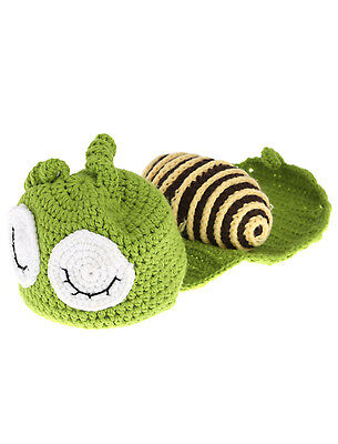 Baby Infant Green Snail Crochet Knitting Costume Soft Adorable Clothes Photo BF