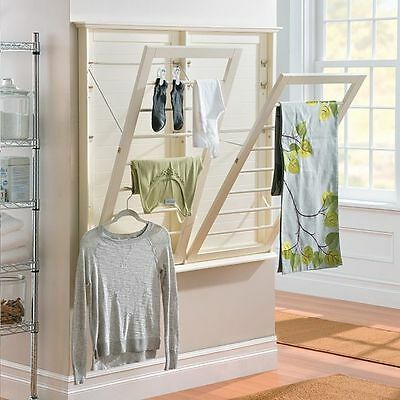 Laundry Room Space Saving Wall Mount Clothes Clothing Drying Rack Hanger 3 Sizes