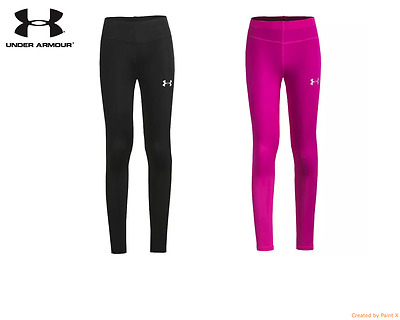 Under Armour Women's UA HeatGear Compression Favorite Leggings Black  Pink