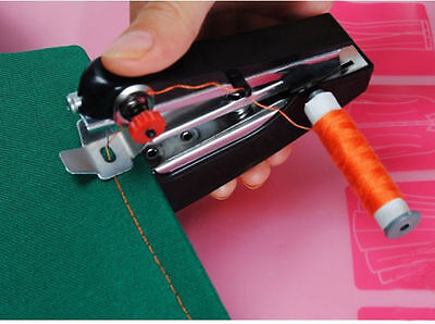 Neu  Portable Needlework Cordless Mini Hand-Held Clothes Fabrics Sewing Machine