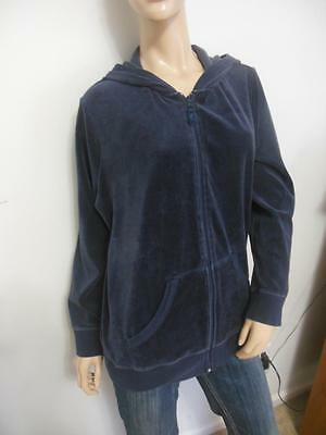 Navy Blue Velour Maternity Jacket Sports Top Motherhood Sport Xl Extra Large
