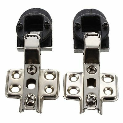 "Pair 1"" Plastic Glass Door 90 degree Angle Concealed Hinge Connector BF"