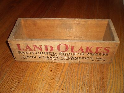 Antique Wooden Land O Lakes Pasteurized Process Cheese Box 5 Lbs