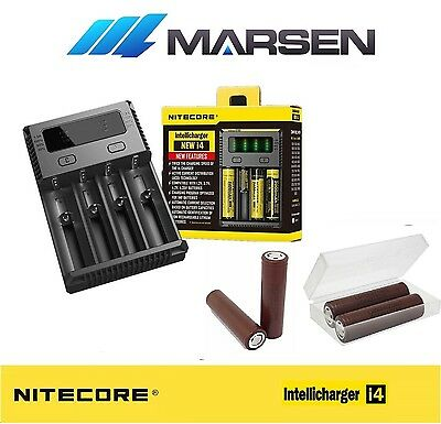 All New Nitecore i4 Charger with LG 18650HG2 20A High drain Lithium batteries