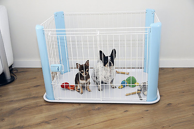 Small Blue Pet Playpen Puppy Dog Cage Cat Rabbit Small Animal Play Pen