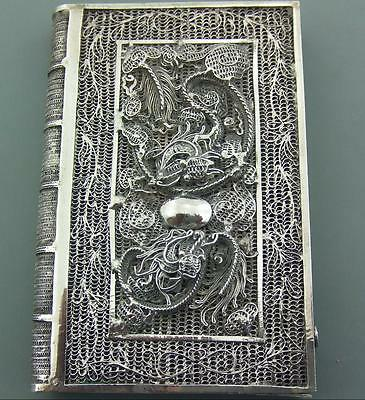 Antique Chinese Silver Filigree Card Case
