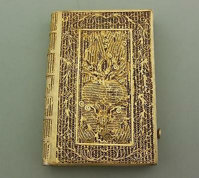 Antique Chinese Silver Gilt Filigree Card Case